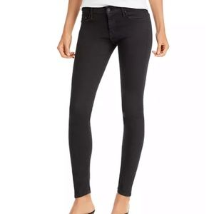 NWT Mother The Looker Jet Black Skinny Jeans